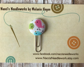 Spring Chicks Planner Paper Clip - Baby Chicks Fabric Button Paper Clip - Springtime Clip - Decorative Planner Accessory