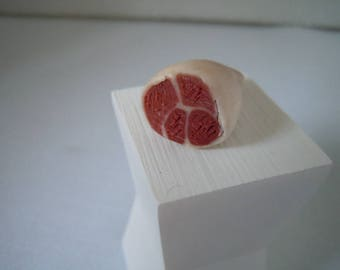 Miniature Ham ~ Meat ~ Butcher ~ Pork ~ Holiday ~ Food ~ Kitchen ~ Handmade ~ Miniature ~ Fairy garden ~ Dollhouse ~ Terrarium