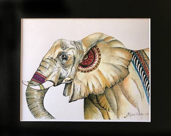 Elephant_1 Print Matted 11x14-inches