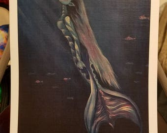 Rising Mermaid Print