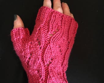 Fingerless Mitts, Arm Warmers, Fingerless Gloves, Wrist Warmers, Cosplay Gloves HAND KNIT