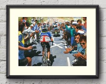 Luis Herrera Tour de France 1984 Fine Art Cycling Print