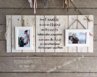 A family is like a tree... for your own photos with 2 photo frames for photos 10 x 15 cm