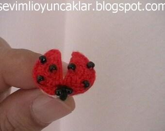 Amigurumi 0.6 inc Miniature Ladybug Pattern