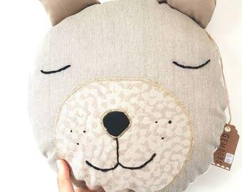 Meet Bruce. Bear Toy, Stuffed Bear, Pillow, Nursery Decor, Soft Toy, Kids Room Decor, Bear Cushion, Decorative Pillow, FREE SHIPPING