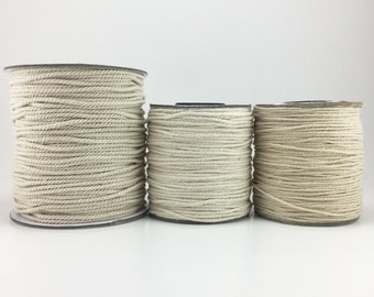 Natural White Cotton Twisted Cord 1mm 1.5mm 2mm
