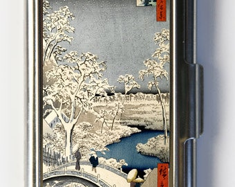 Japanese Woodblock Snow Business Card Holder Card Case
