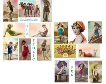 Sea Side Beauties Digital Collage Sheet