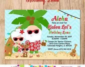 HOLIDAY LUAU invitation - you print