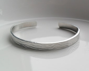Textured metal cuff bracelet, personalized jewelry, handmade bracelet, inspirational bracelet, casual cuff bracelet, gift for her