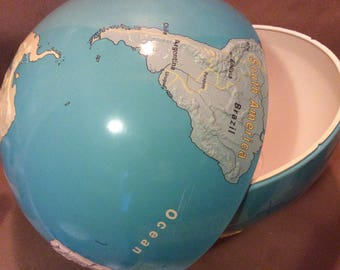 Muted Colors Globe Halves