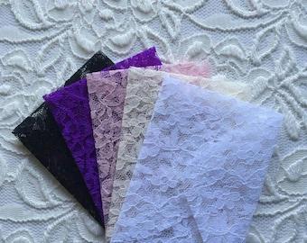 Mini Flower Lace Envelopes - Set of 5