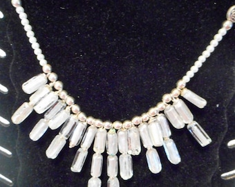 foiled glass  necklace