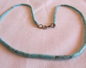 Turquoise Heshi Bead Choker
