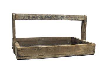 Vintage Rustic Wood Berry Carrier