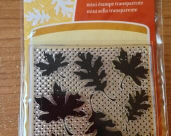 Inkadinkado Brand Clear Acrylic Stamp  Brand --  Leaf Wallpaper  --   NEW  -- (#1785)