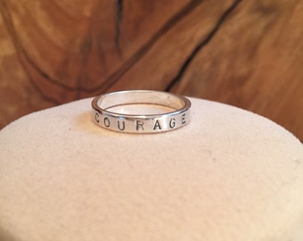 Personalized Skinny stackable ring