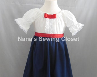 Mary Poppins Inspired Dress ONLY