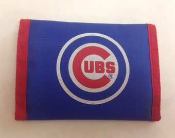 Vintage Chicago Cubs Nylon Trifold Wallet 1990s