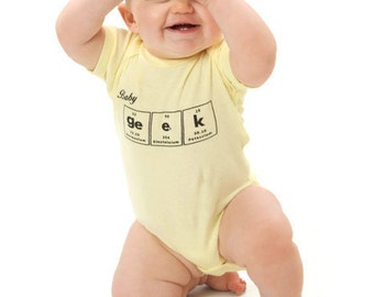 Baby Geek Bodysuit - Science Chemistry Periodic Table