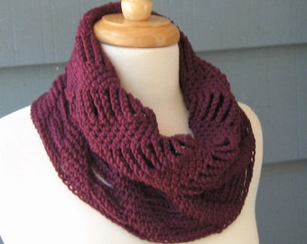 PATTERN C-055 / Crochet Pattern / Paige Cowl ... worsted 200 yards