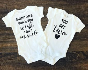 Twins Pregnancy Announcement | Twin Gifts | Twins Outfits | Twins Bodysuits Expecting Twins | Pregnant With Twins | Pregnancy Reveal