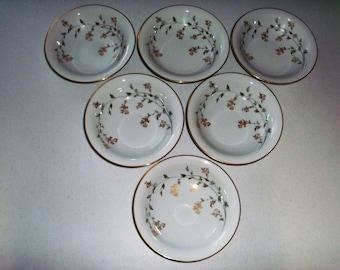 Noritake Florence Set Of Six Coupe Soup Bowls