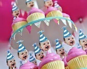 Custom Party Hat Cupcake Picks