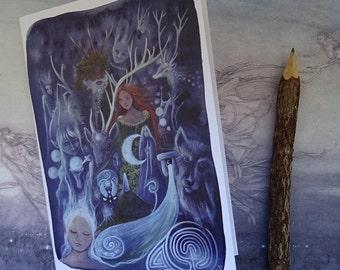 The Silver Wheel ~ A5 Notebook