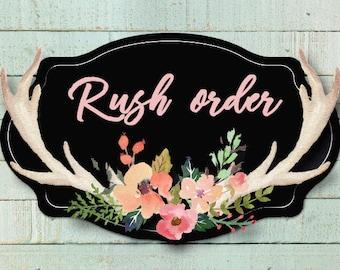 Rush order, Process and Ship Next Day