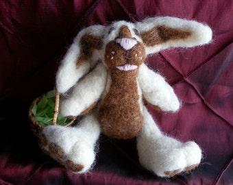 Wallace - Needlefelted Bunny Rabbit OOAK