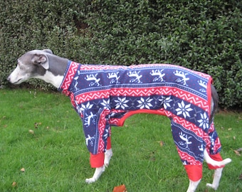 Greyhound & Whippet Pyjamas Reindeer