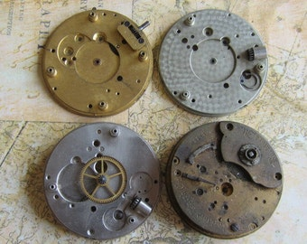 Vintage Antique Watch movements parts Steampunk - Scrapbooking r31