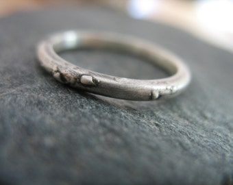 Wedding Band, Matching Wedding Bands, Stacking Ring,Handmade Jewelry, Alternative Silver Wedding Band, Silver Ring, Ancient Jewelry