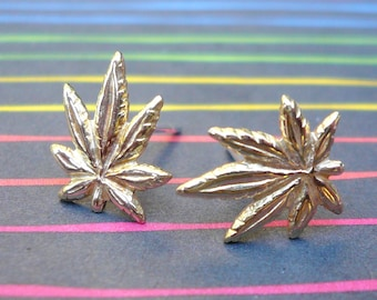 The Devils Lettuce Stud Earrings