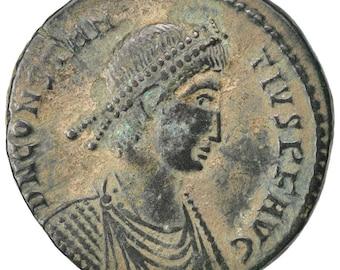 constantius ii nummus arles au(50-53) copper cohen #31 5.80