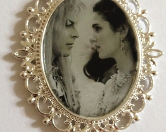 Labyrinth Sarah & Jareth cameo necklace