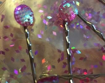 Mermiad scales hair pins x 2