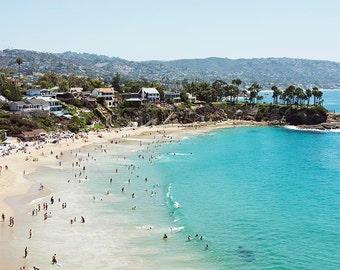 "Laguna Beach, Crescent Bay, Beach Photography, California Coast, West Coast, Aqua Turquoise Beach Decor, Photography,  ""Laguna Beach"""