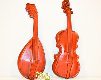 Vintage Wall Decor Mandolin and Violin