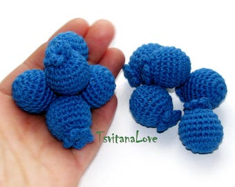 Blueberry crochet (1 pc+) - stuffed berries - Blueberries - Play kitchen Play food Fike food Pretend food - berry fruit toy Eco friendly toy