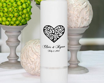 Wedding Candles - Personalized Wedding Candles - Unity Candles - GC305 CP2