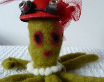 Maude Cacklemaker  needle felted Octopus
