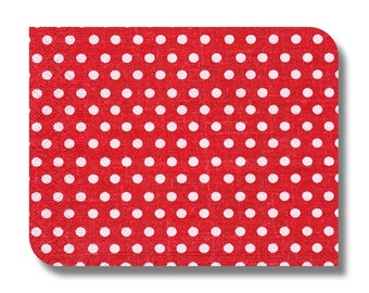 Dotted paper napkin for decoupage, mixed media, collage, scrapbooking x 1. Red dots. No 1148