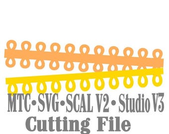 SVG Border Eyelet Set #01 Embellishment Cut Files MTC Cricut SCAL Silhouette Cutting File