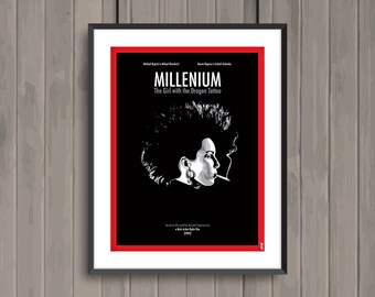 MILLENIUM The Girl with the Dragon Tattoo, (vf : Millénium, le film), minimalist movie poster