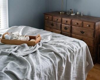 Linen Bed Cover, Sheet & Blanket, Linen Bedding, Linen Sheet, Bed Cover, Natural Linen Blanket