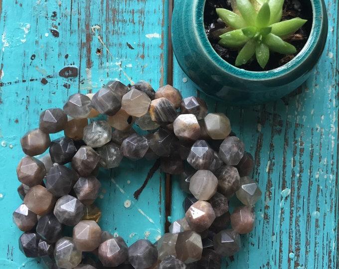 Sunstone Nuggets | Chunky 10 mm | Spiritual Junkies | Yoga + Meditation | Stackable Mala Bracelet