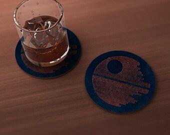Star of Death Geek Drink Coaster