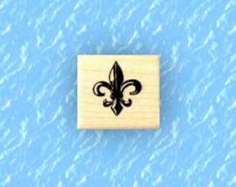 small Fleur-de-lis 1 mounted rubber stamp, French Monarchy symbol, New Orleans, fleur de lys, fleur de luce, Sweet Grass Stamps  No.13